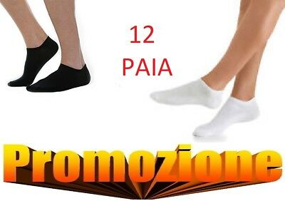 12 Paia Fantasmini Uomo Calze Calzini In Cotone Tg 40/46 Fantasmino Unisex A Wide Selection Of Colours And Designs Socks