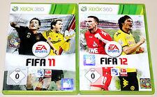 2 XBOX 360 SPIELE SET - FIFA 11 & FIFA 12 - FUSSBALL SOCCER FOOTBALL (15 16)
