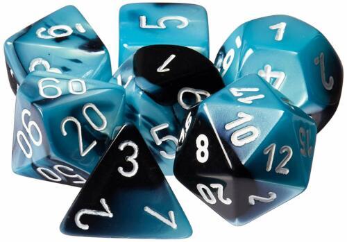 Chessex 26446 Gemini Black Shell 7 Dice Set D/&D dungeons dragons rpg Z