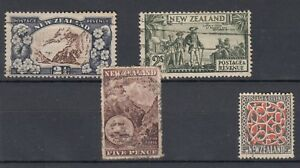 New-Zealand-QV-KGV-Collection-Of-4-Incl-SG253-Fine-Used-J3669