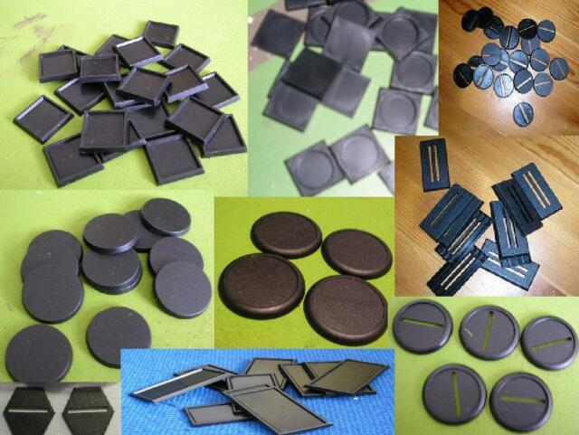 Plastic Bases, WHFB, WH40k Warmachine etc