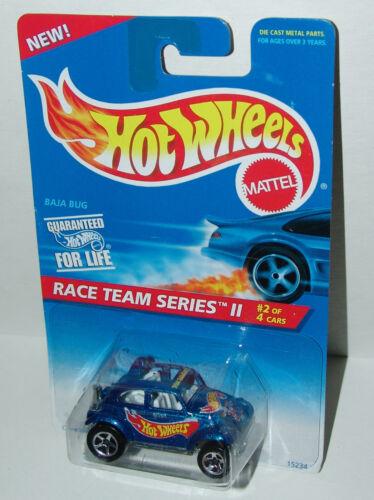 Hot Wheels Race Team II Baja Bug Sp5/'s Metal Base White Int #393 Malaysia 1996