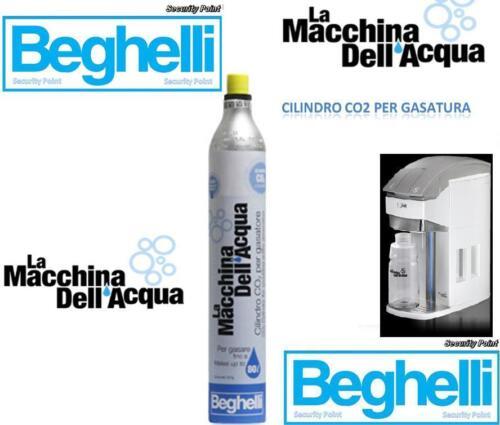 BEGHELLI CILINDRO C02 GAS GASATURA CO2 X LA MACCHINA DELL/'ACQUA 80 LITRI RICAMBI
