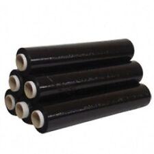 12 x Forte Roll NERO PALETTA STRETCH Wrap pacchi imballaggio PLASTIFICATO 400mm