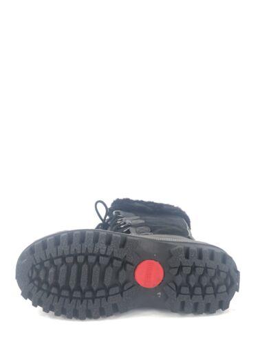 6 para cordones mujer de gamuza M sintética altas impermeables de invierno con talla gris color de Botas negro AE1aq