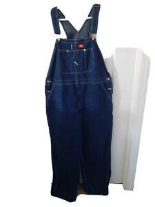 Dickies Mens INDIGO BLUE Indigo Bib Overalls 83294NB