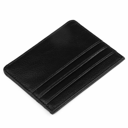 BRAND NEW Men/'s Leather Slim Thin Soft Credit Card Holder Wallet FREE GIFT UK