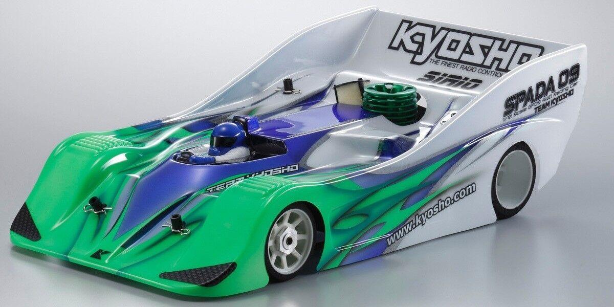 KYOSHO NEW 1 12, 4WD KIT SPADA WITH SIRIO 09r ENGINE, RD-12EX BODY  31323 R