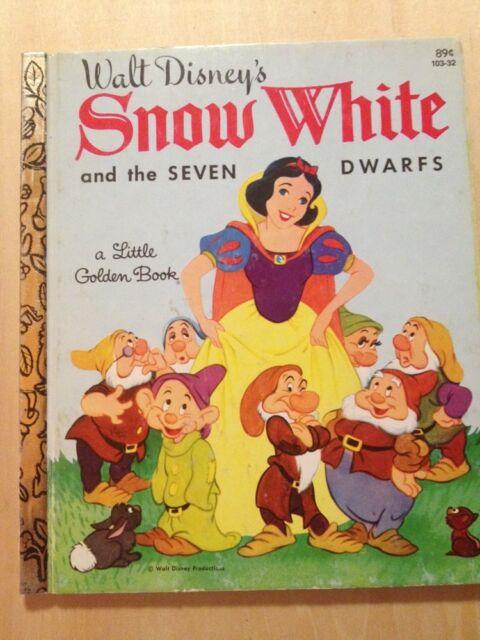 Walt Disneys Snow White And The Seven Dwarfs Little Golden Book LGB 1981