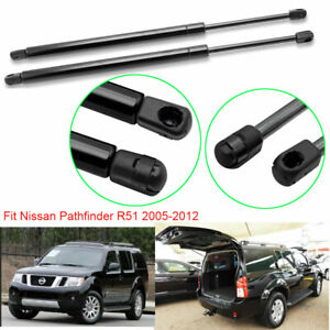2 x Rear Window Glass Gas Charged Lift Support Struts for Nissan Pathfinder R51 SUV 2005-2013