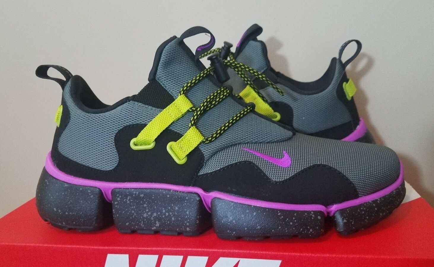 Mens Nike Pocketknife DM SU Shoes Gray Purple Black Running Sneaker NWT 130