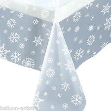 """54 """"X108"""" Natale Party Elegante Fiocco di Neve Trasparente in Plastica Trasparente Tavolo Copertura"""