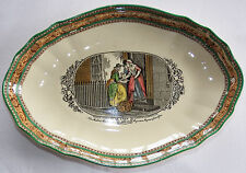 Antique W Adams Cries of London New Mackrel Oval Bowl Dish c1920
