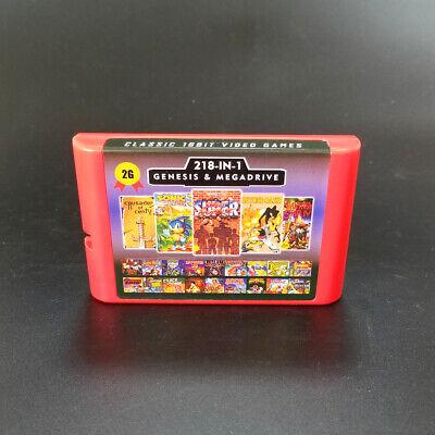 Super 218 in 1 Sega Genesis /& Mega Drive Multi Cart 16-Bit Video Game Cartridge