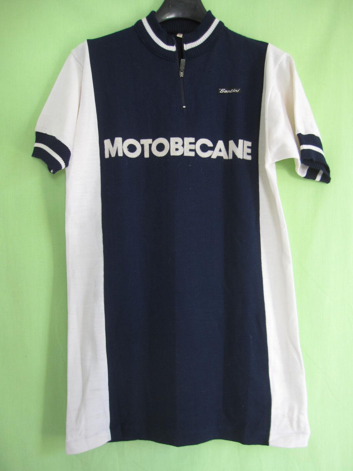 Maillot Cycliste MOTOBECANE Santini acrylique Vintage jersey tricot - 4   L