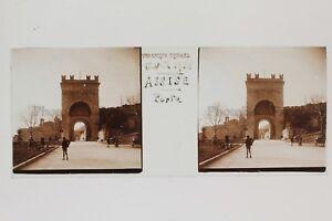 Seduta Assisi Italia Placca N1 Lente Stereo Vintage 1938