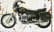 MotoGuzzi V65C 1984 Aged Vintage Photo Print A4 Retro poster