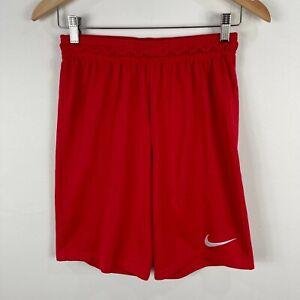 Nike-Mens-Athletic-Shorts-Small-Red-Elastic-Waist-Drawstring-Dri-Fit