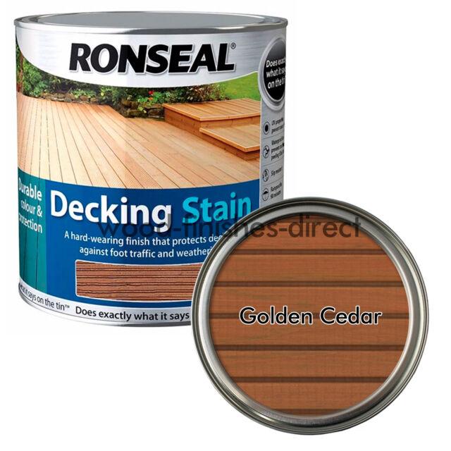 Ronseal Decking Stain Golden Cedar 2 5 Litre Rsldsgc25l