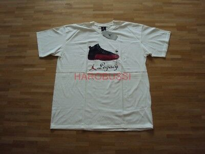Original Nike Air Jordan Xii Black Red Sneaker T-shirt Neu Xl 2003 Sammlerstück