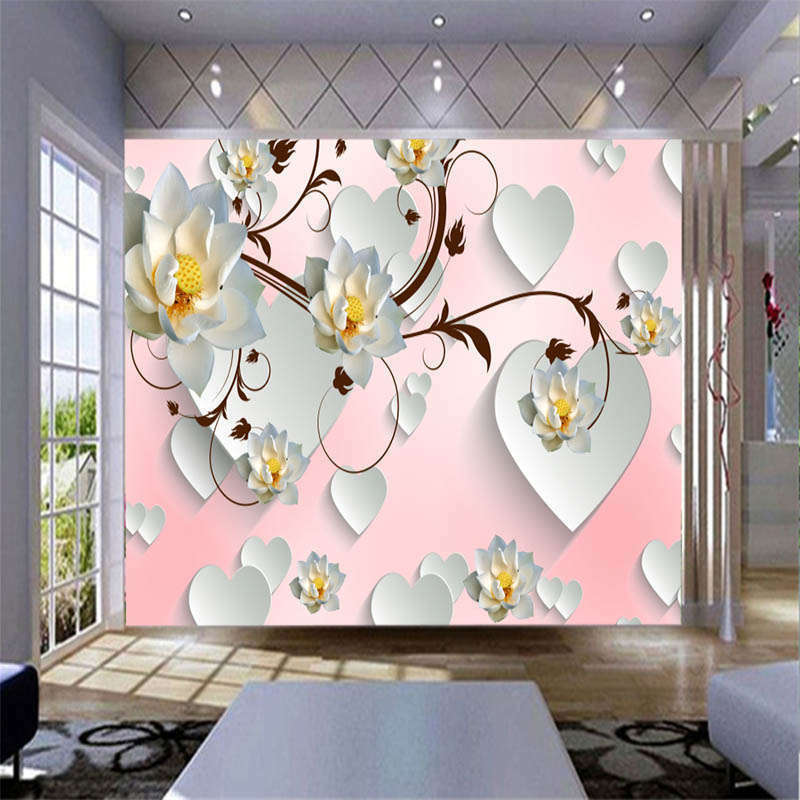 Pure Albizia Flower 3D Full Wall Mural Photo Wallpaper Printing Home Kids Decor
