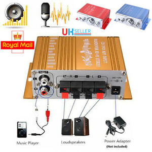Details about UK Mini Hi-Fi Home Motorcycle 2 Channel Car Amplifier Amp  Subwoofer Stereo Audio