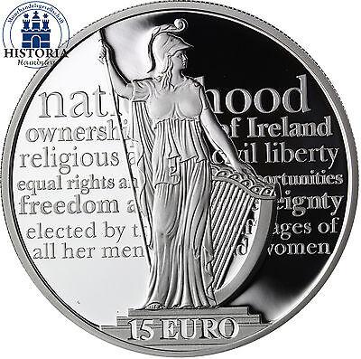 Irland 15 Euro Silbermünze 2016 PP 100 Jahre Osteraufstand Landesgöttin Hibernia