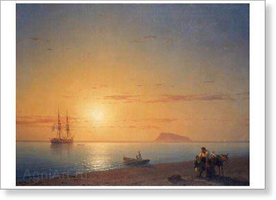 """Fine Art Print New 20/"""" x 28/"""" By Ivan Aivazovsky Niagara Falls"""