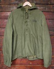VTG WWII US NAVY WET WEATHER PULLOVER SMOCK PARKA RAIN JACKET 40s WW2 USN M/L