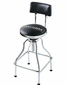 Craftsman Work Shop Counter Stool Black Adjustable