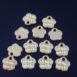 25pcs-8-8mm-Gold-Tone-Alloy-Hand-Made-Flower-Charm-Pendant-Jewelry-Finding-Hot