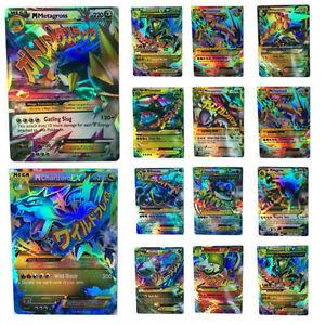 18-un-Pokemon-Tcg-tarjeta-Mega-meter-tarjetas-ex-CHARIZARD-BLASTOISE-VENUSAUR-gulardon