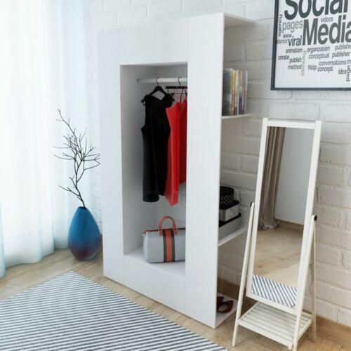 Kleiderschrank Spanplatte 106 x 36,5 x 192 cm Weiß U1L8