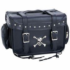 Biker Motorcycle Cooler Bag for Luggage Rack Studded Skull Detail