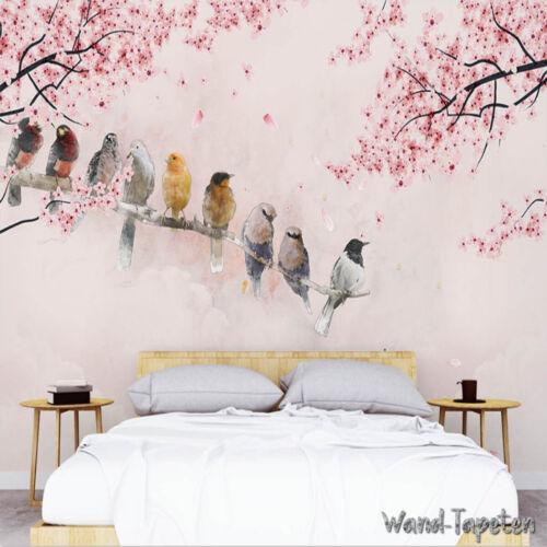 Nappes papiers peints photos tapisseries peintures murales peintes Cerise Fleurs kn-3620