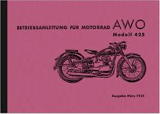 AWO 425 Bedienungsanleitung Handbuch Betriebsanleitung Owner's Manual User