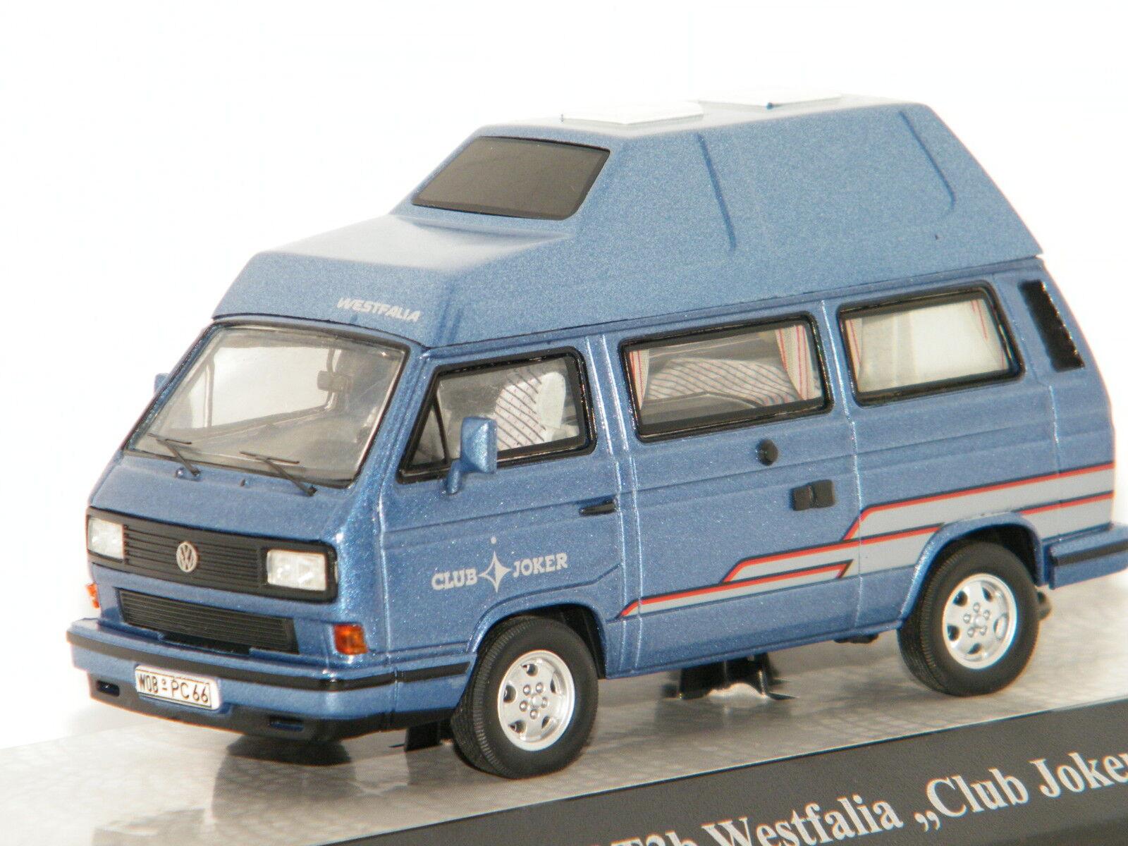 VOLKSWAGEN T3b WESTFALIA  CLUB JOKER  blue METAL PREMIUM CLASIXXS 1 43 Ref 13080