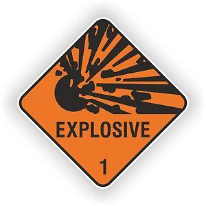 Details About 1x Explosive New Design Warning Sticker Door Auto Moto Truck Ski Helmet Car 02