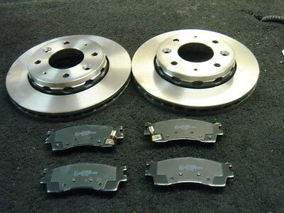2 Brake Discs Front Vented Kia Carens 1.8 2.0 99-02