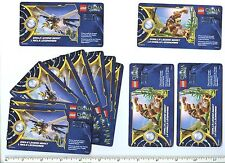LEGO Legends of Chima Online Card x 10 Eagle Legend Beast x 3 Gorilla Legend Bea