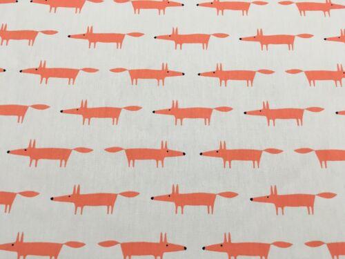 """Fox/"""" rideau tissu coton ginger 1.2 mètres Naturel /& PAPRIK Scion /""""Little M"""