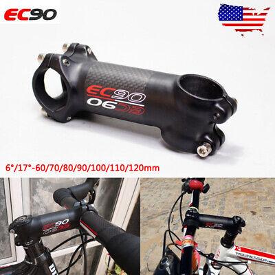 EC90 MTB Road Bicycle Stem 31.8*60-120mm  Aluminum Alloy+Carbon Fiber Bike Part