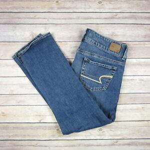 American Eagle Mujer Artista Jeans Pantalones Regular De Superdry Azul Talla 4 Ebay