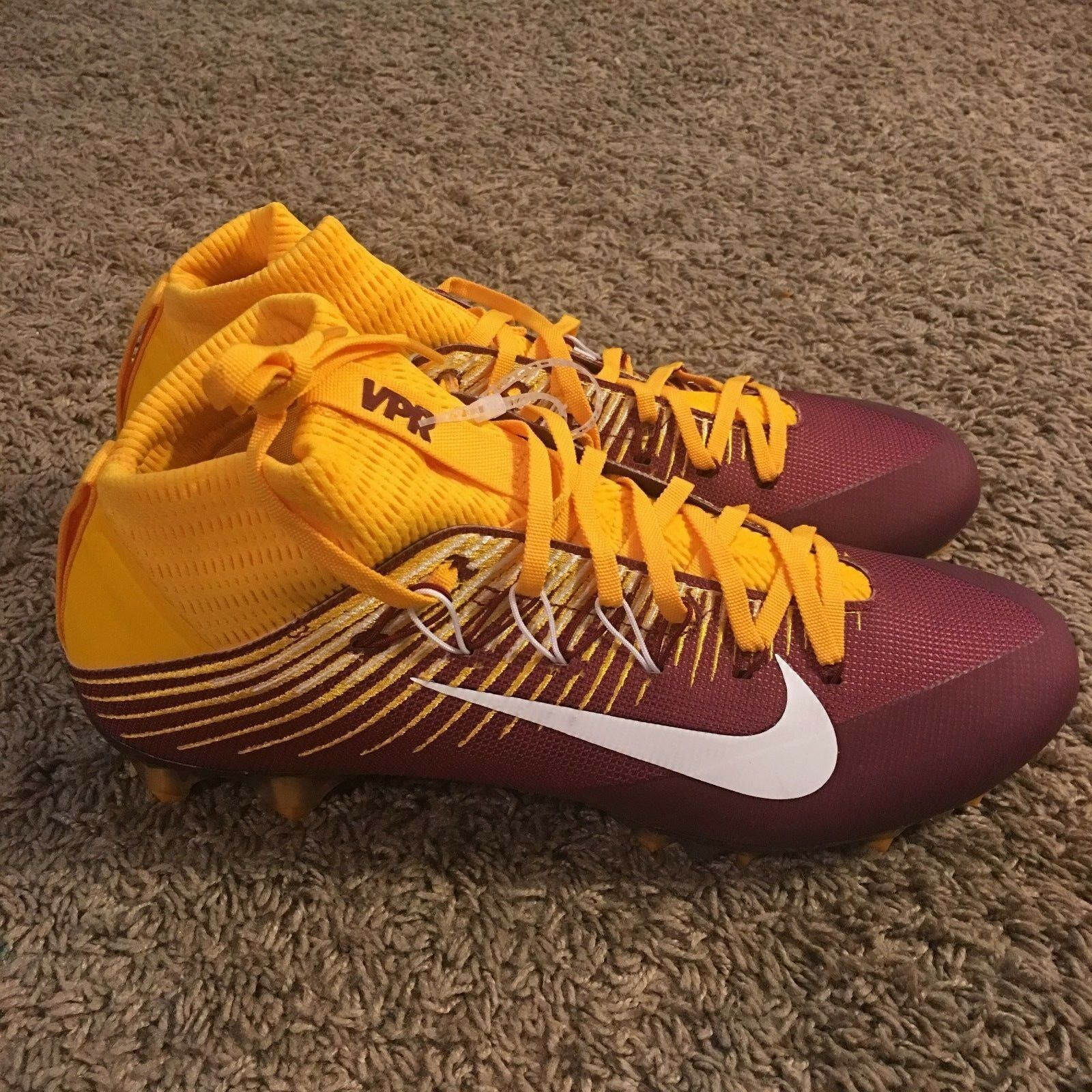 Nike Vapor Untouchable 2 Football Cleat 13 Maroon Red Redskins 835646 632