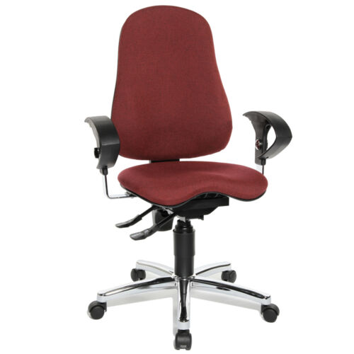 Drehstuhl Schreibtischstuhl Bürostuhl Topstar Sitness 10 bordeaux rot B-Ware
