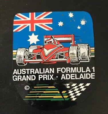 Advertising Sticker 7.5cmx9.5cm AUSTRALIAN FORMULA 1 GRAND PRIX ADELAIDE S.A
