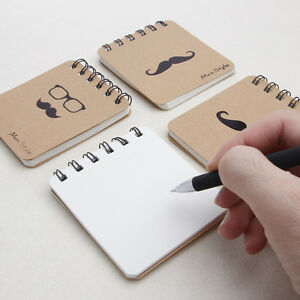 1-5PCS-Kraft-Paper-NoteBook-Spiral-Coil-Journal-Diary-Memo-Blank-Page-Stationery