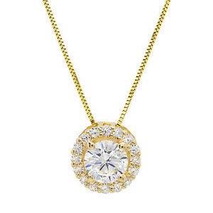 1-50-ct-Round-Solitaire-Halo-Solid-14K-Yellow-Gold-Pendant-Necklace-16-034-Chain