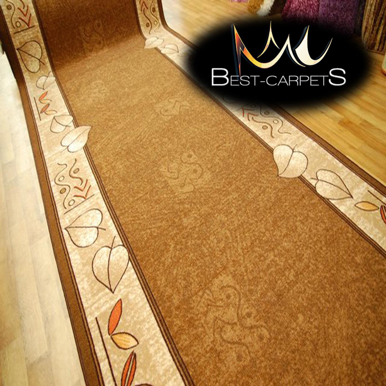 Coureur tapis, leandro brown, moderne anti-dérapant, escaliers largeur 67cm-133cm 67cm-133cm 67cm-133cm extra long   Online Shop  ed8e06