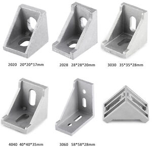10x-L-Aluminum-Right-Brace-Corner-Joint-Angle-Bracket-Gusset-Extrusion-Profile-e